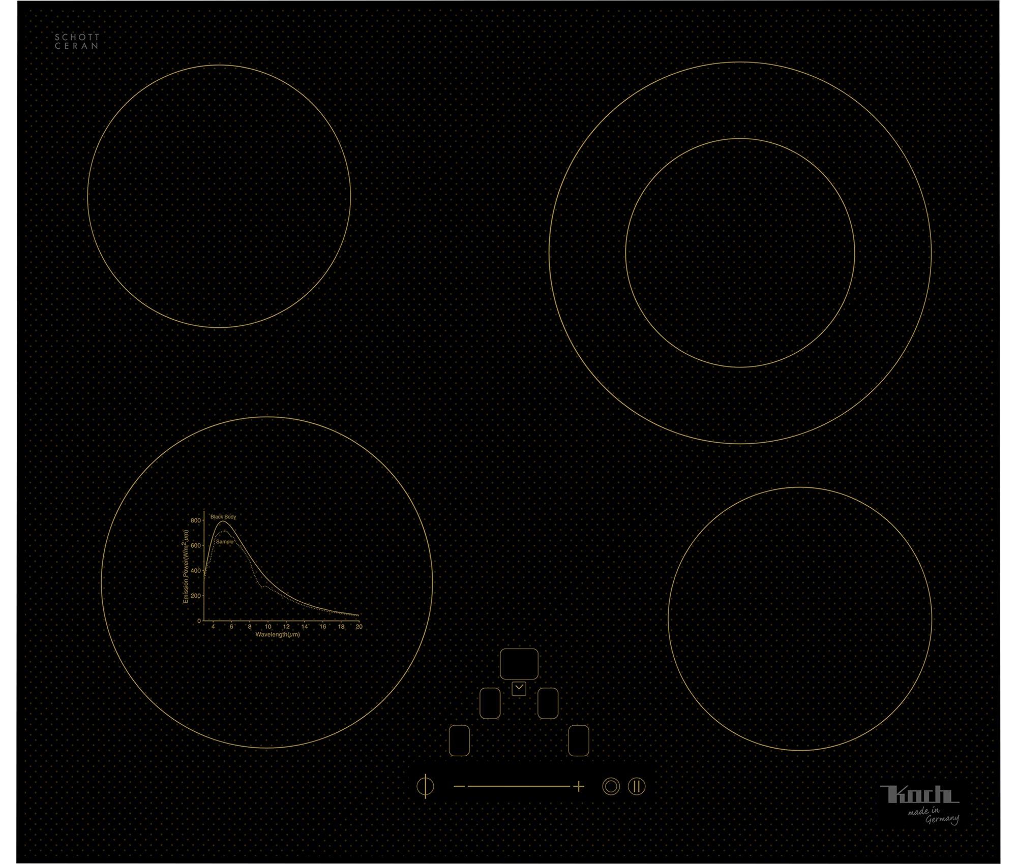ELEKTROKOCHFELD | GK5 HIGH-TRANS | 4 PLATTEN